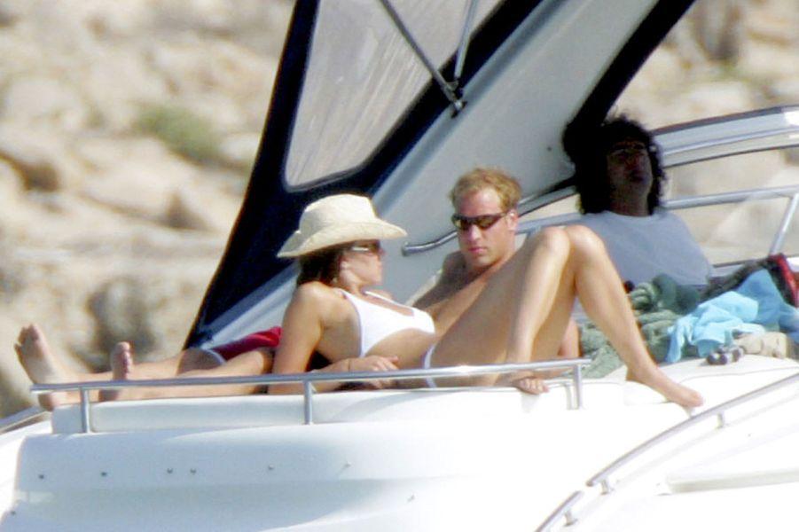 Kate Middleton et le prince William à Ibiza en septembre 2006