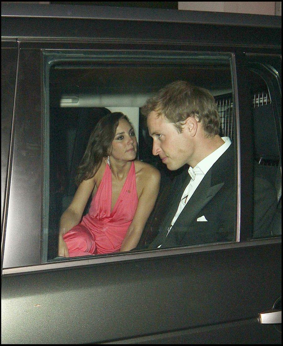 Kate Middleton et le prince William en juin 2008