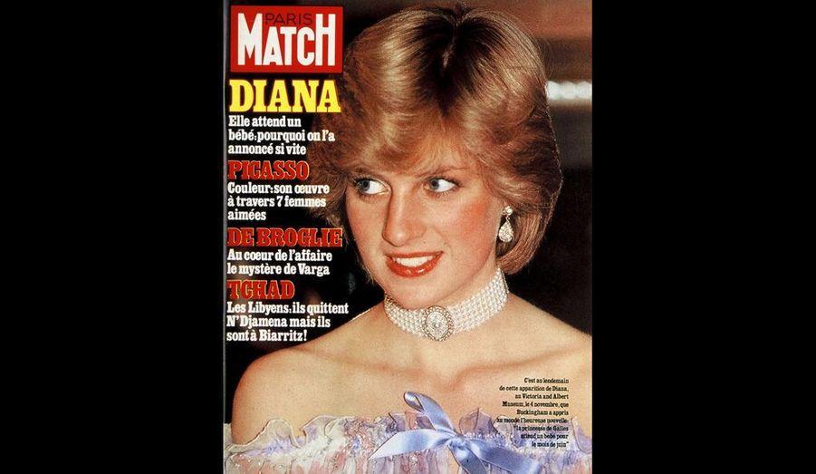 Enceinte de son premier enfant, 20 novembre 1981