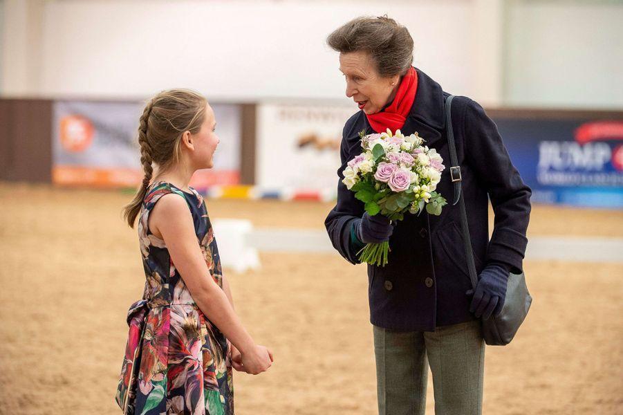 La princesse Anne à Addington, le 16 mars 2020