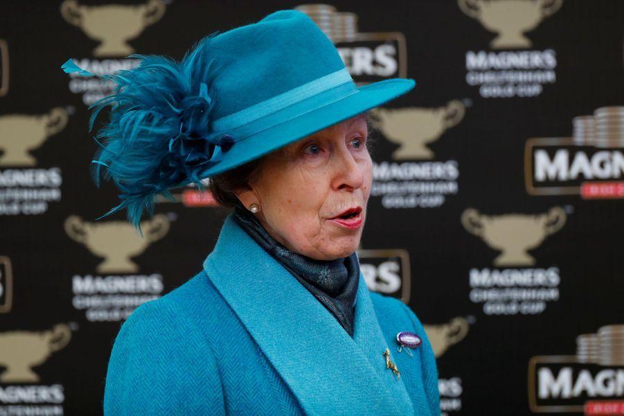La princesse Anne au Cheltenham Festival, le 15 mars 2019