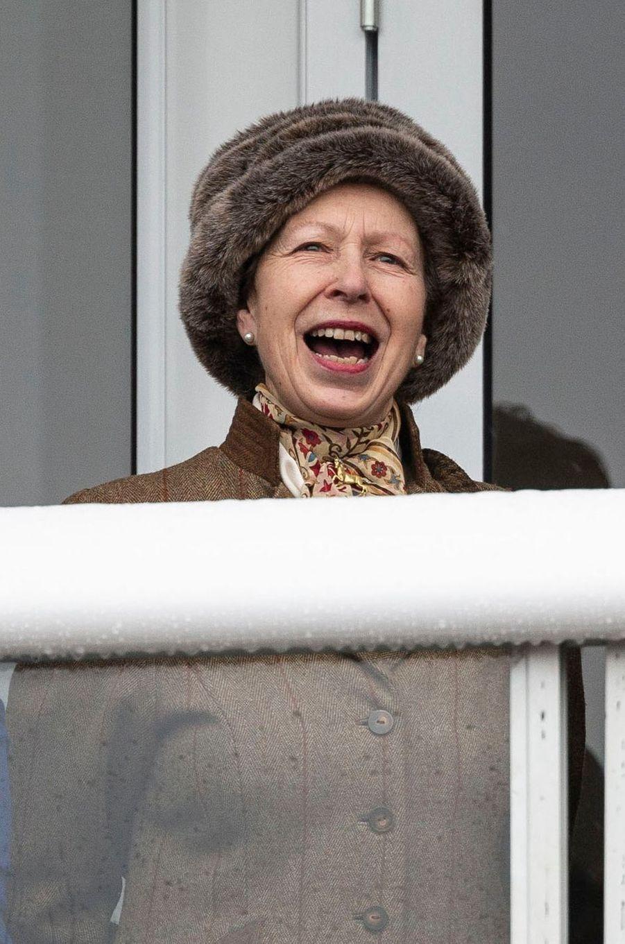 La princesse Anne au Cheltenham Festival, le 12 mars 2019