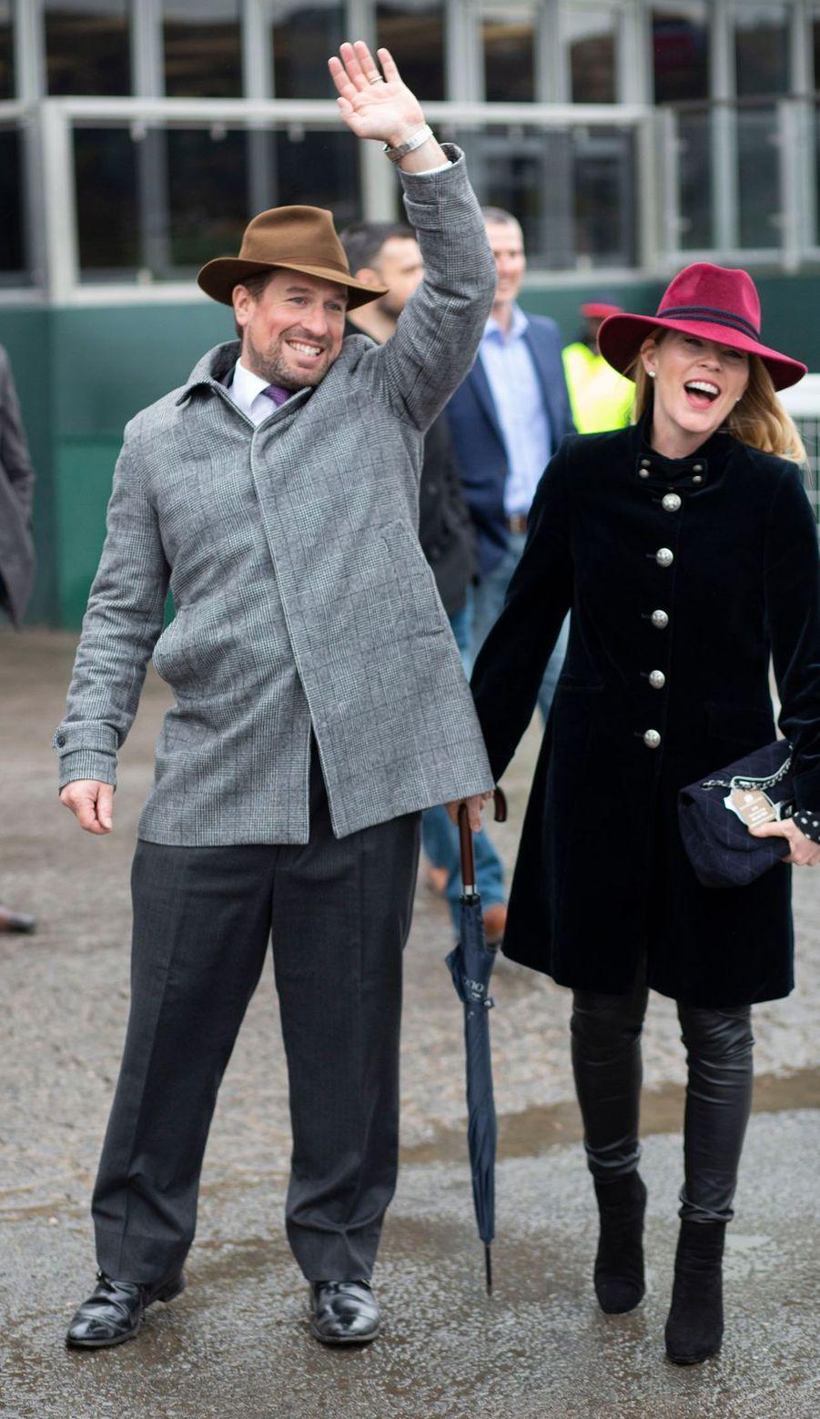 Peter et Autumn Phillips au Cheltenham Festival, le 15 mars 2019