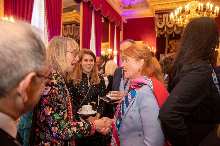 Sarah Ferguson et la princesse Beatrice d'York à Londres, le 12 juin 2019