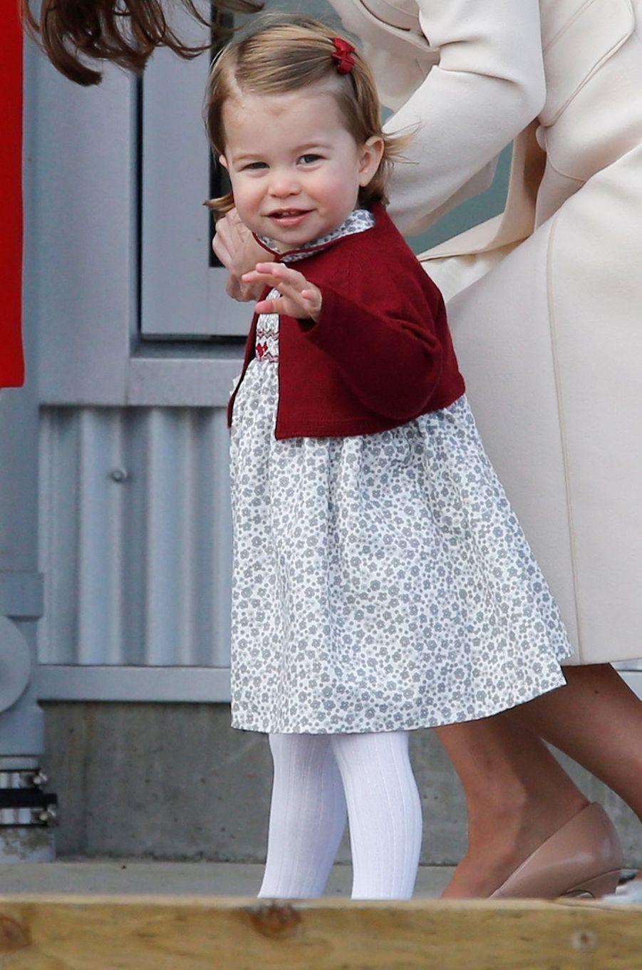 La princesse Charlotte de Cambridge à Victoria au Canada, le 1er octobre 2016