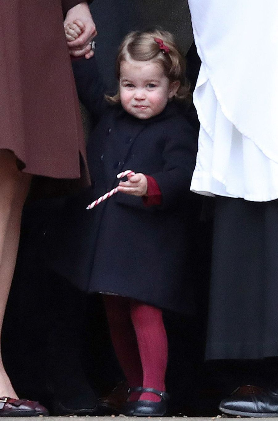 La princesse Charlotte de Cambridge à Englefield, le 25 décembre 2016