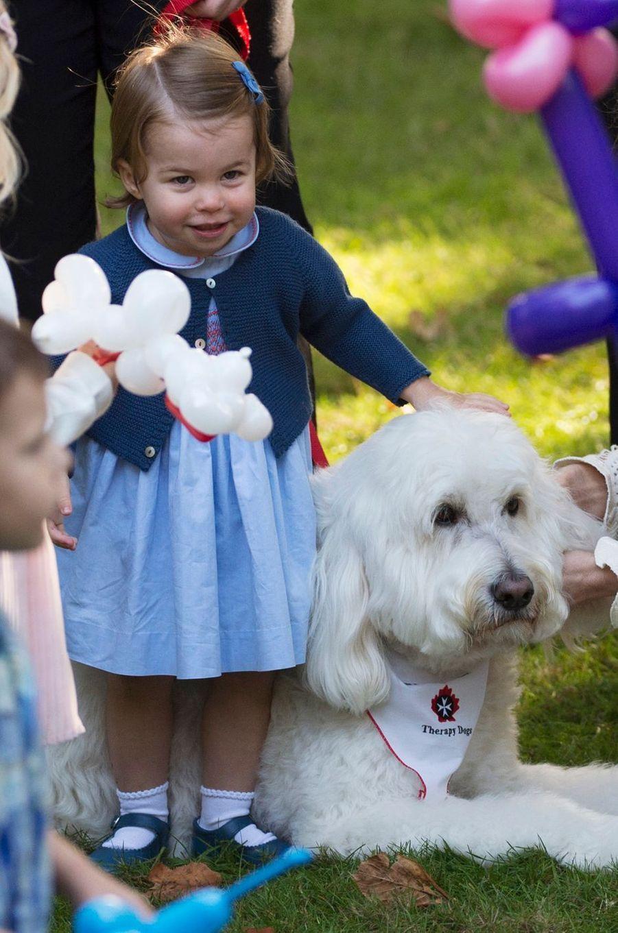 La princesse Charlotte de Cambridge à Victoria au Canada, le 29 septembre 2016