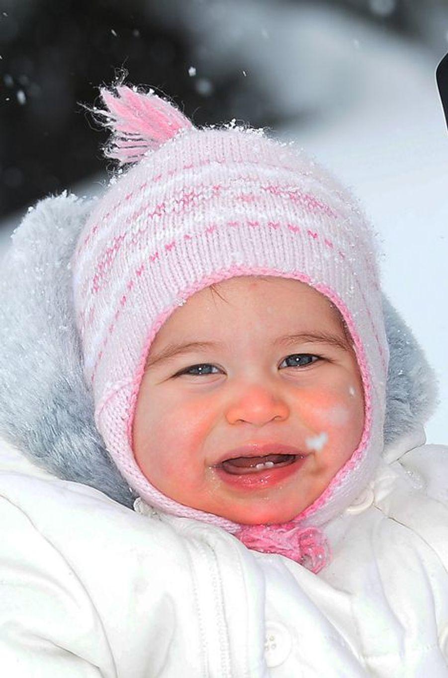 La princesse Charlotte au ski dans les Alpes françaises, photo diffusée en mars 2016