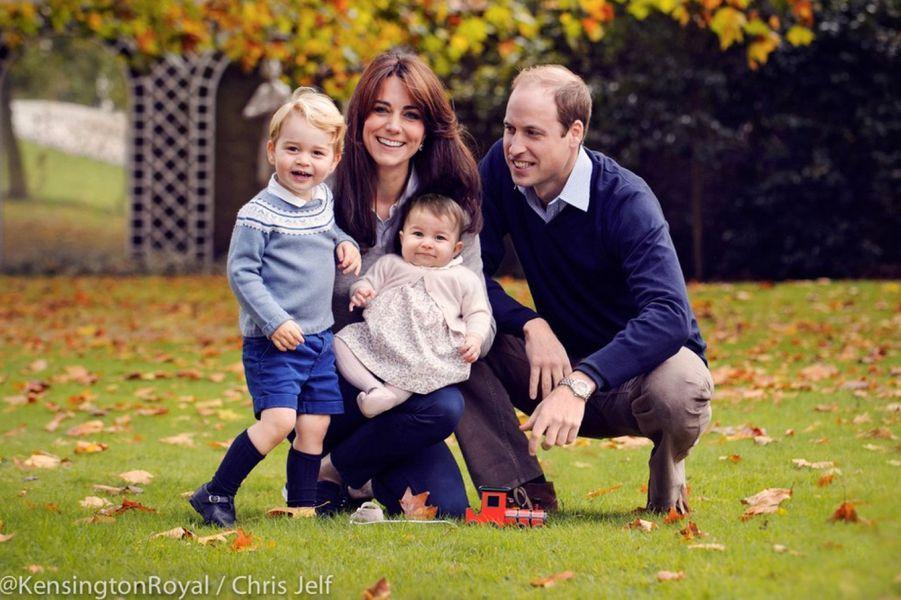 La princesse Charlotte en famille, photo diffusée pour Noël 2015