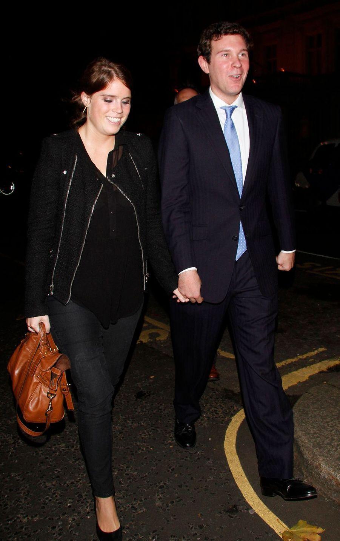 La princesse Eugenie d'York avec son petit ami Jack Brooksbank, le 18 octobre 2012