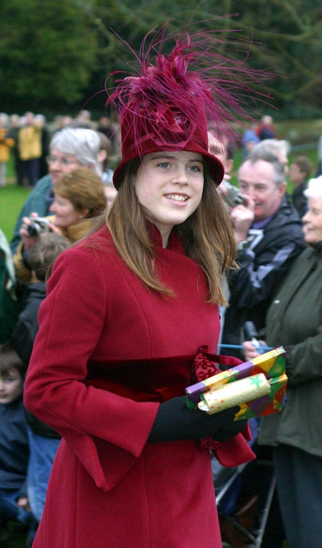 La princesse Eugenie d'York, le 25 décembre 2002