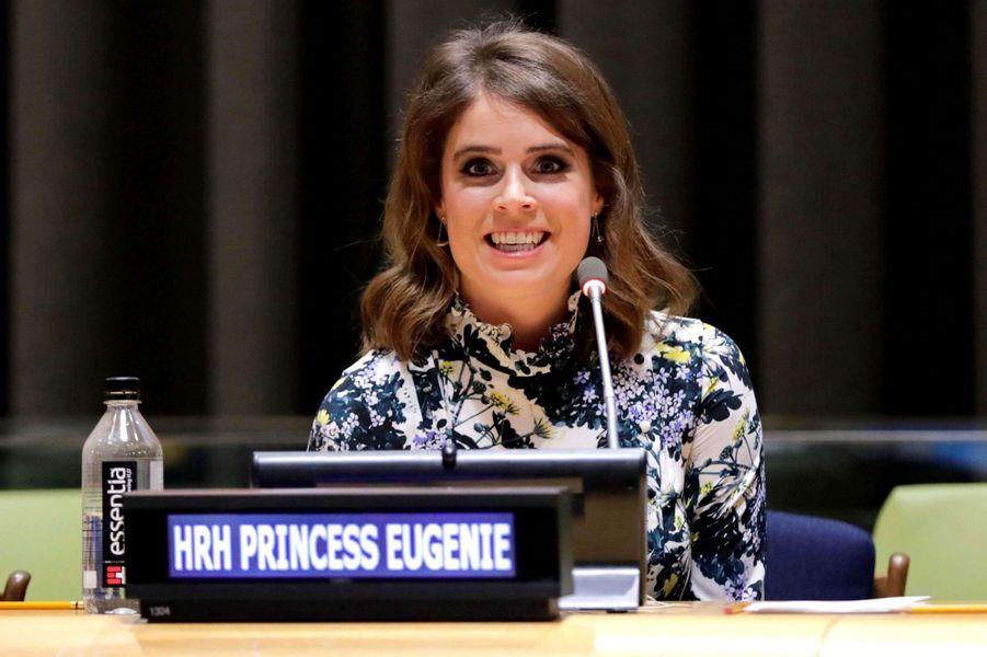 La princesse Eugenie d'York à l'ONU à New York, le 26 juillet 2018