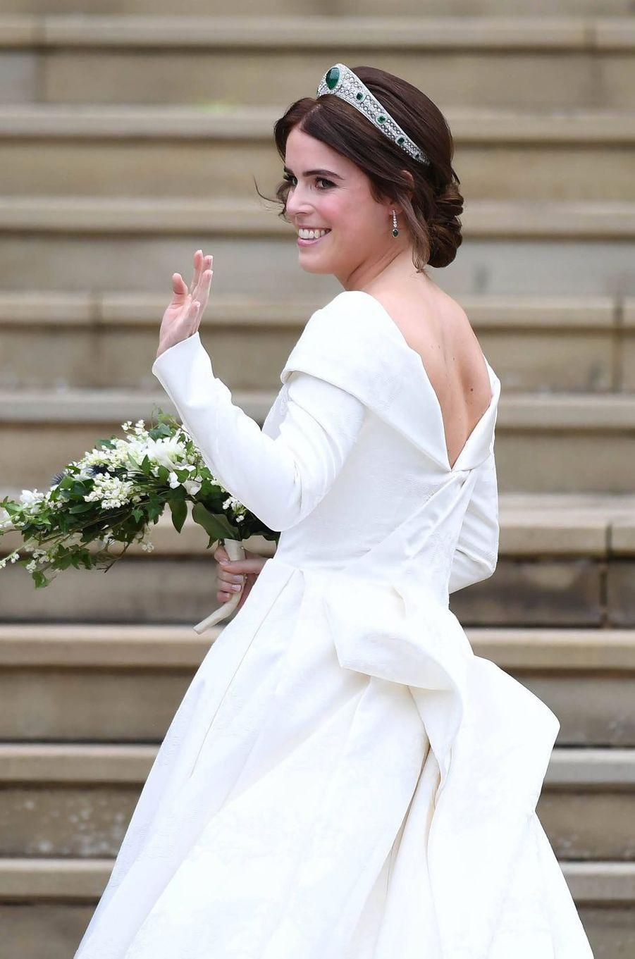 La princesse Eugenie d'York, le jour de son mariage, le 12 octobre 2018