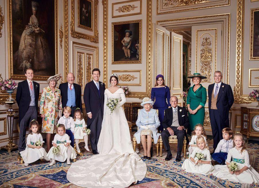 L'une des photos officielles du mariage de la princesse Eugenie d'York et de Jack Brooksbank, le 12 octobre 2018