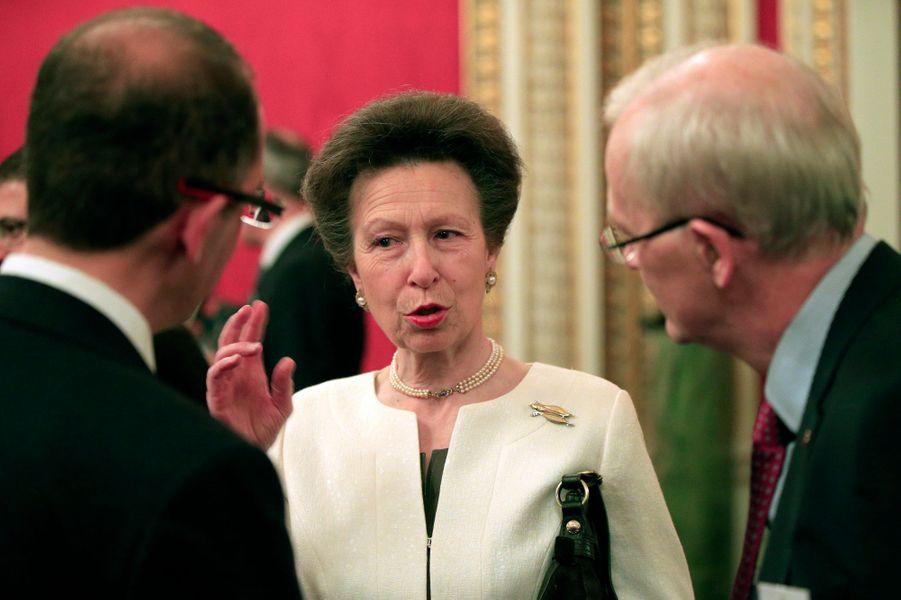 La princesse Anne à Buckingham Palace, le 26 octobre 2015