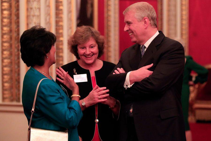 Le prince Andrew à Buckingham Palace, le 26 octobre 2015