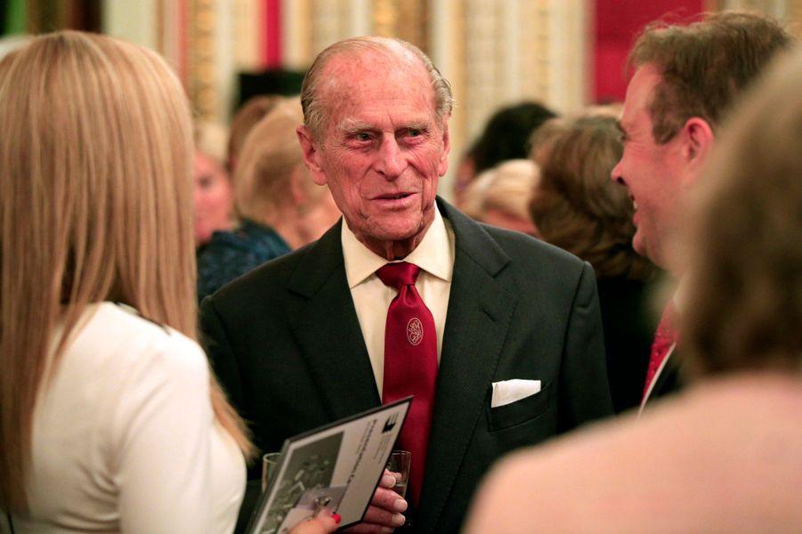 Le prince Philip à Buckingham Palace, le 26 octobre 2015