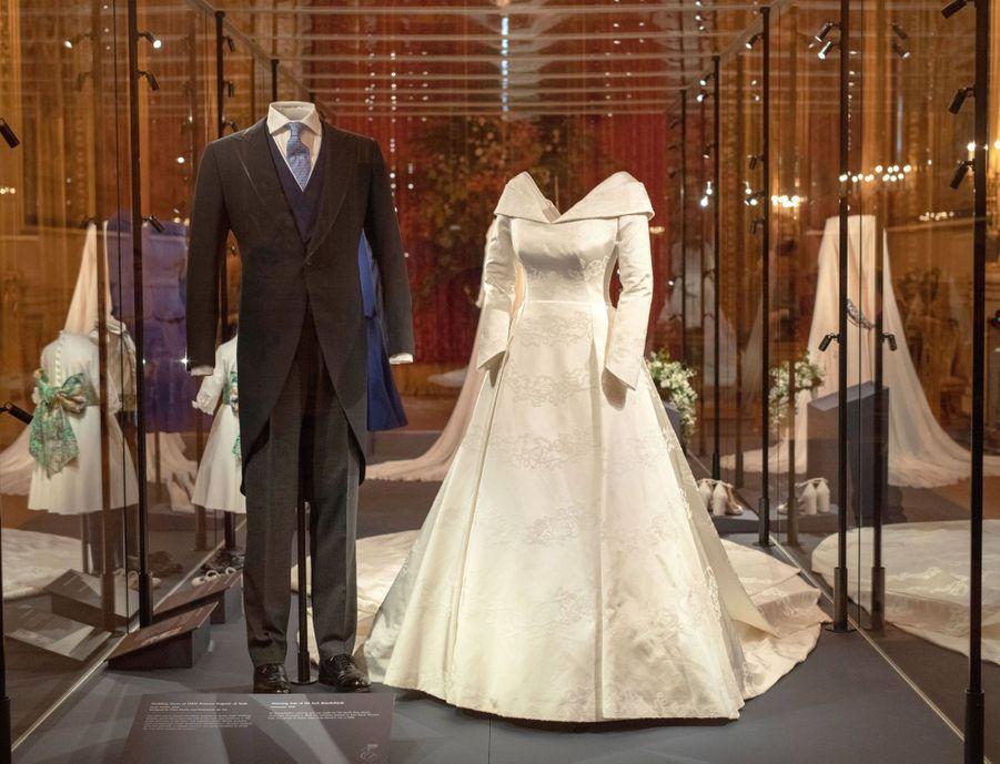 Exposition des tenues de mariage de la princesse Eugenie d'York et de Jack Brooksbank à Windsor, le 28 février 2019