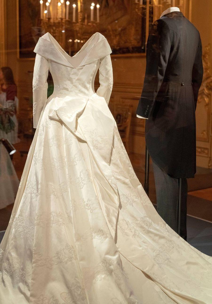La robe de mariée de la princesse Eugenie d'York à Windsor, le 28 février 2019