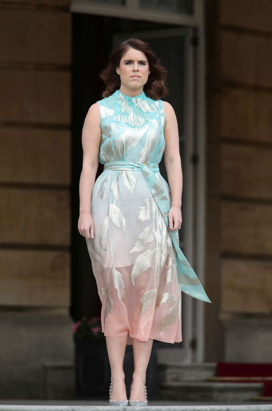 La princesse Eugenie d'York à Buckingham Palace à Londres, le 22 mai 2019