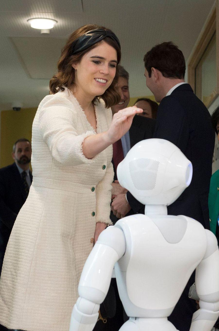 La princesse Eugenie d'York à Londres, le 21 mars 2019