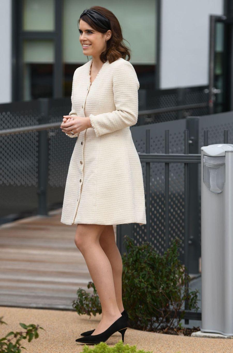 La princesse Eugenie d'York dans une robe Maje à Londres, le 21 mars 2019