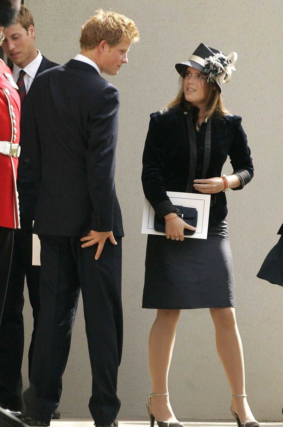 Le prince Harry et la princesse Eugenie à Londres en 2007.