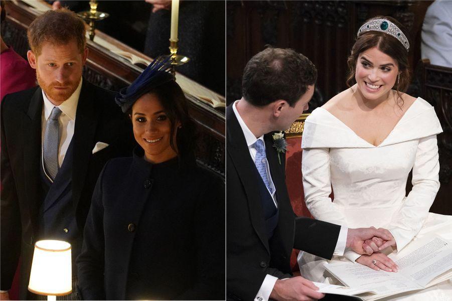 Harry et Meghan au mariage de la princesse Eugenie avec JackBrooksbank en octobre 2018