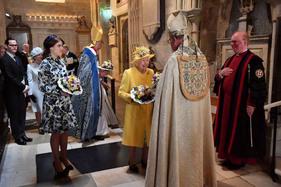 La princesse Eugenie d'York et la reine Elizabeth II à Windsor, le 18 avril 2019