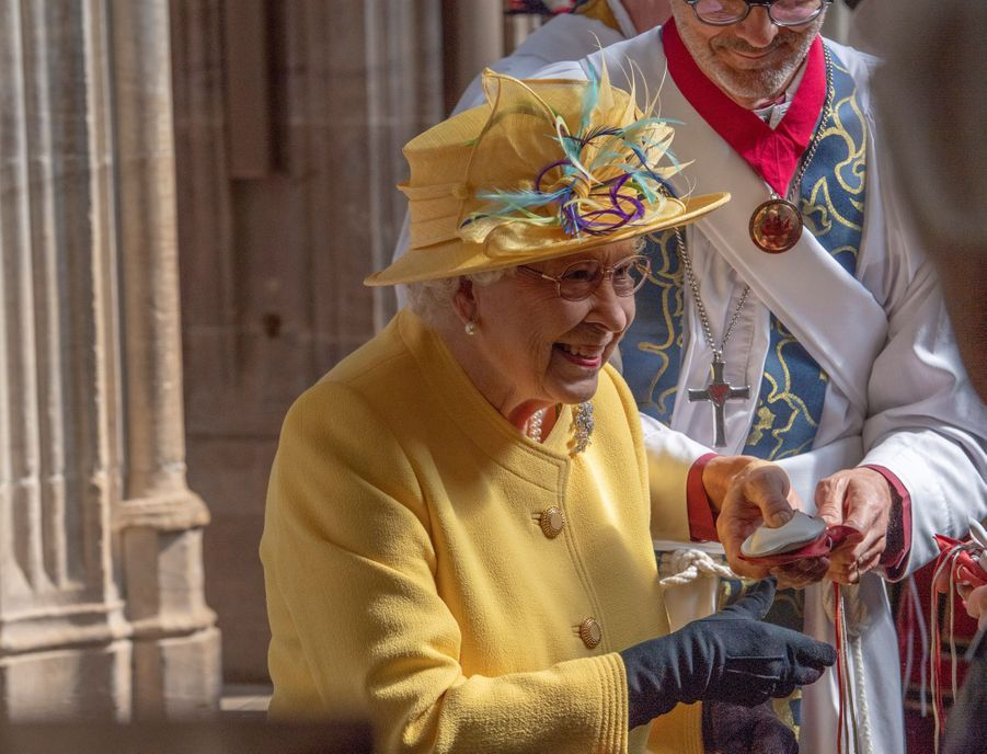 La reine Elizabeth II à Windsor, le 18 avril 2019