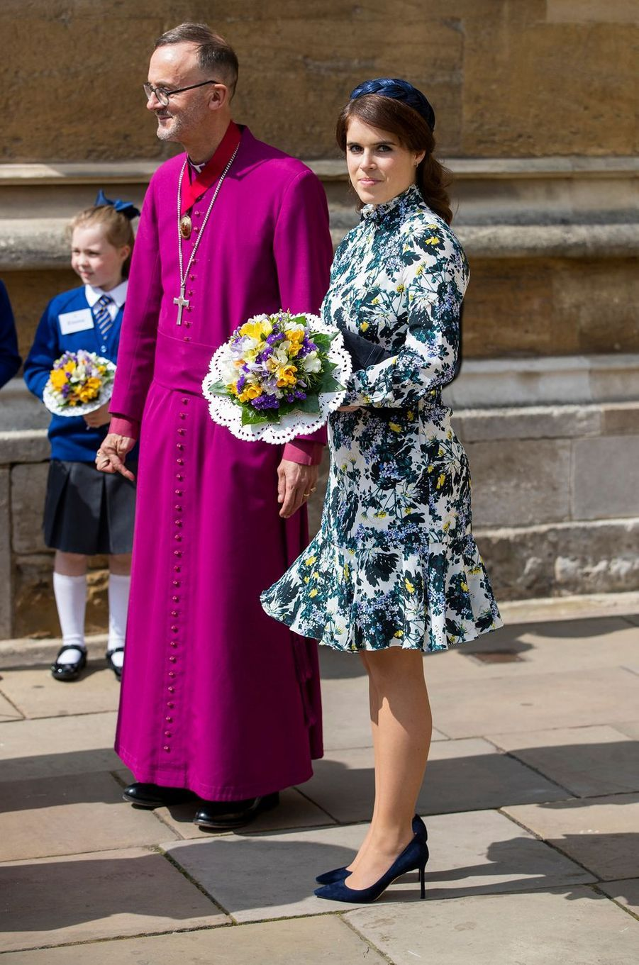 La princesse Eugenie d'York à Windsor, le 18 avril 2019