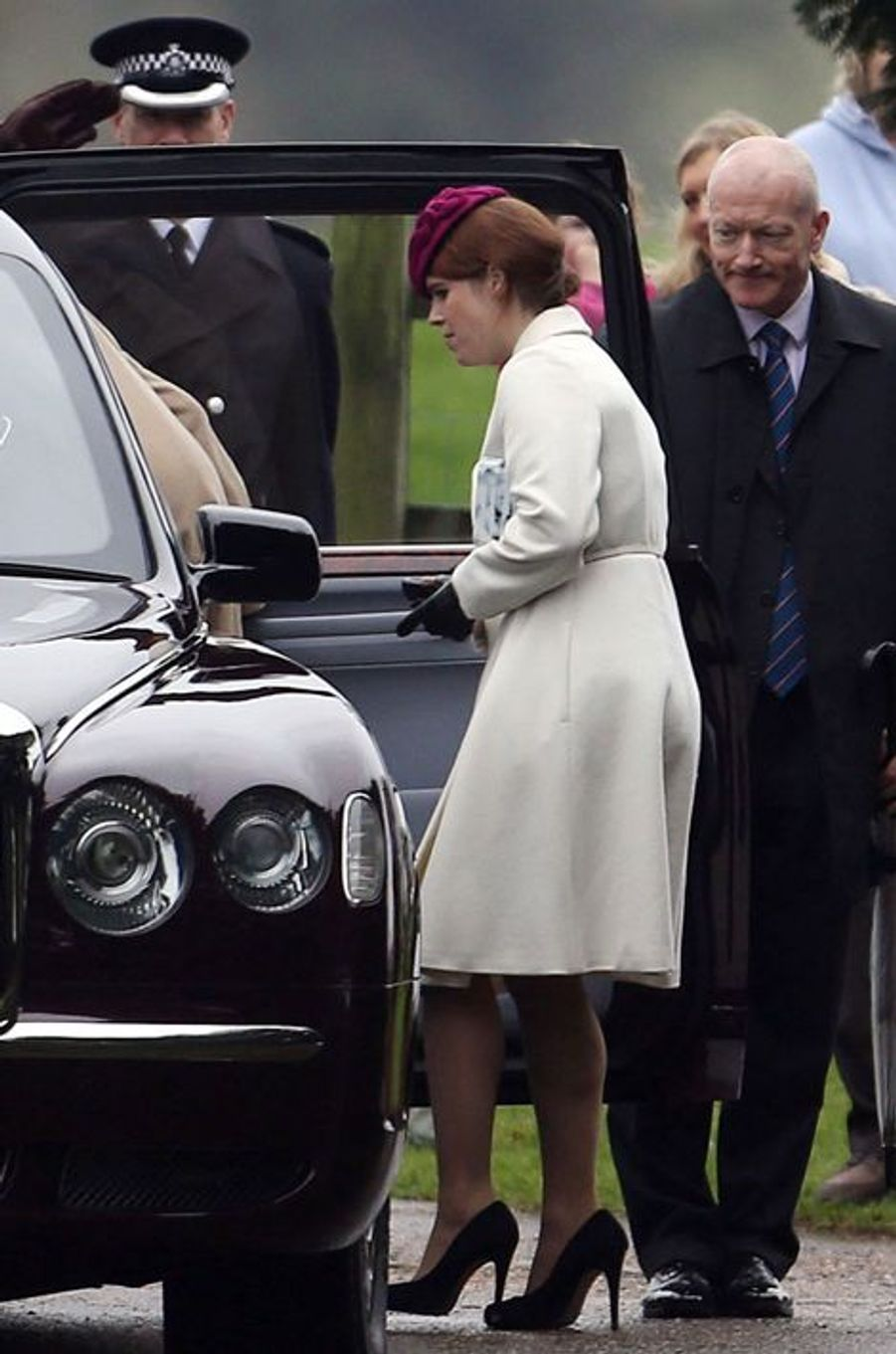 La princesse Eugenie d'York à Sandringham, le 24 janvier 2016