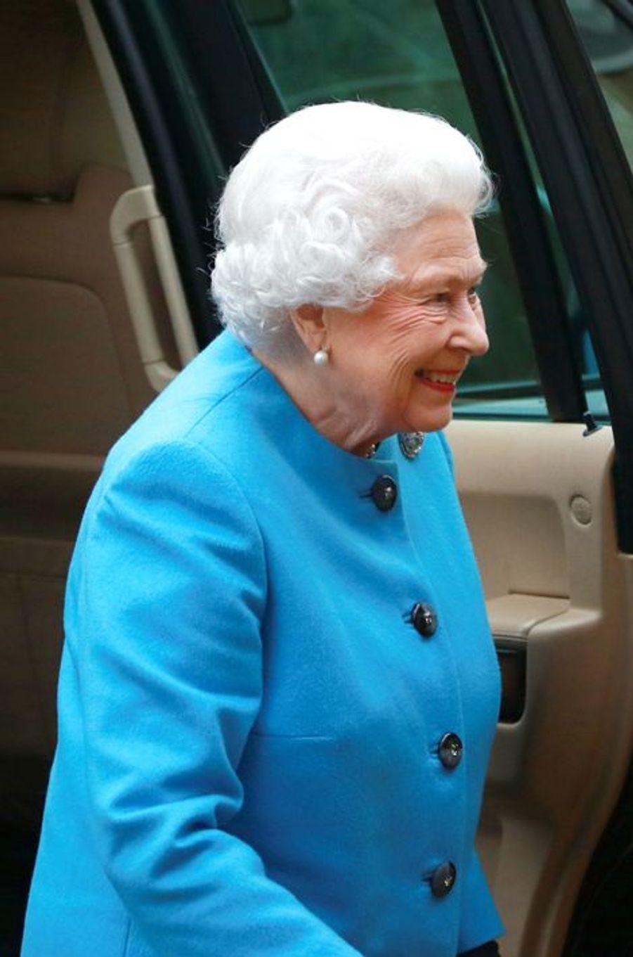 La reine Elizabeth II à Sandringham, le 21 janvier 2016