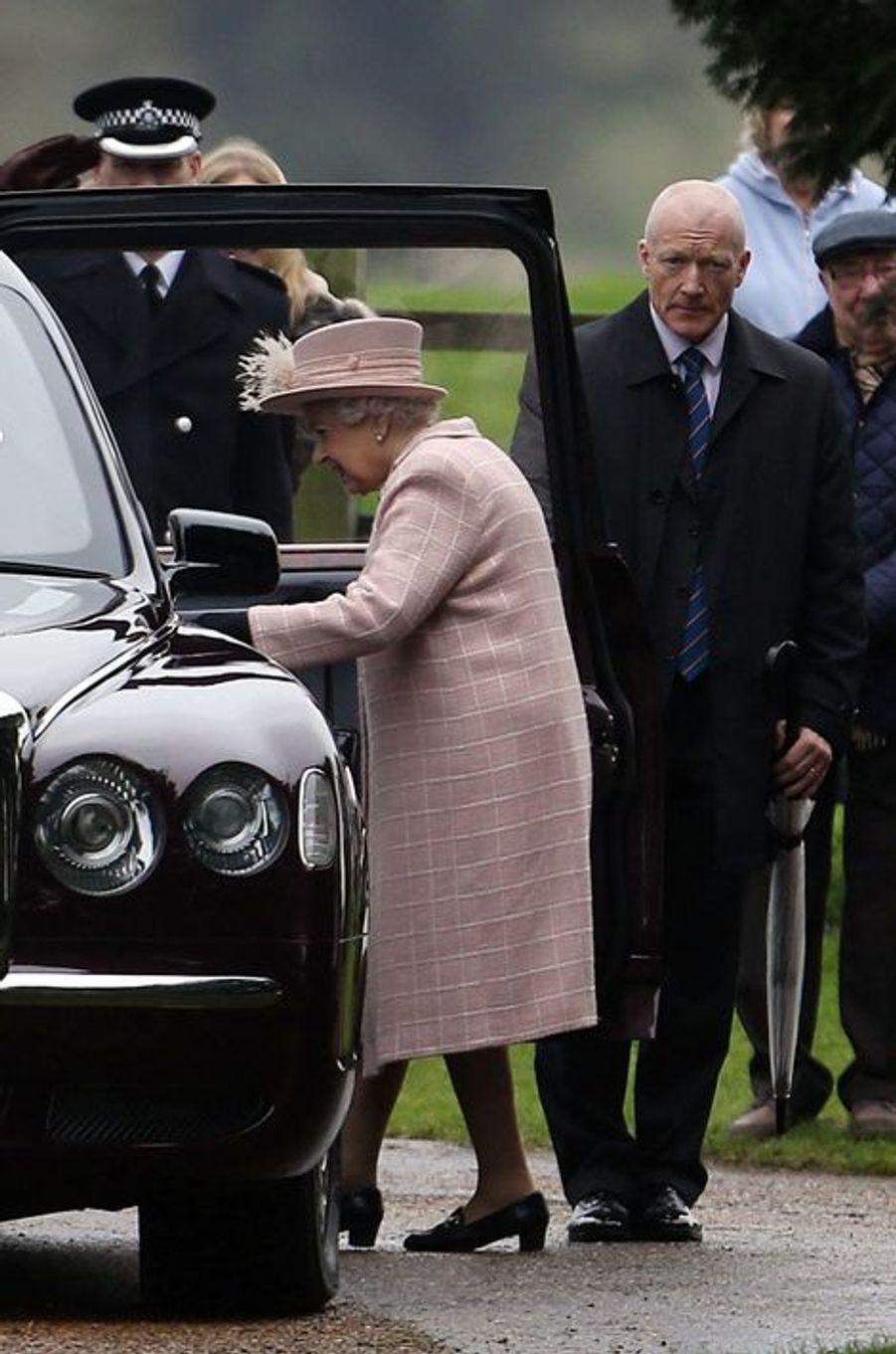 La reine Elizabeth II à Sandringham, le 24 janvier 2016