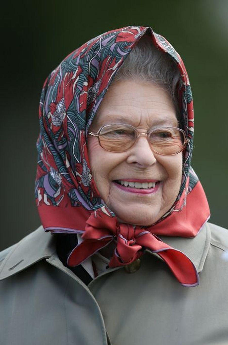 La reine Elizabeth II au Royal Windsor Horse Show, le 15 mai 2015