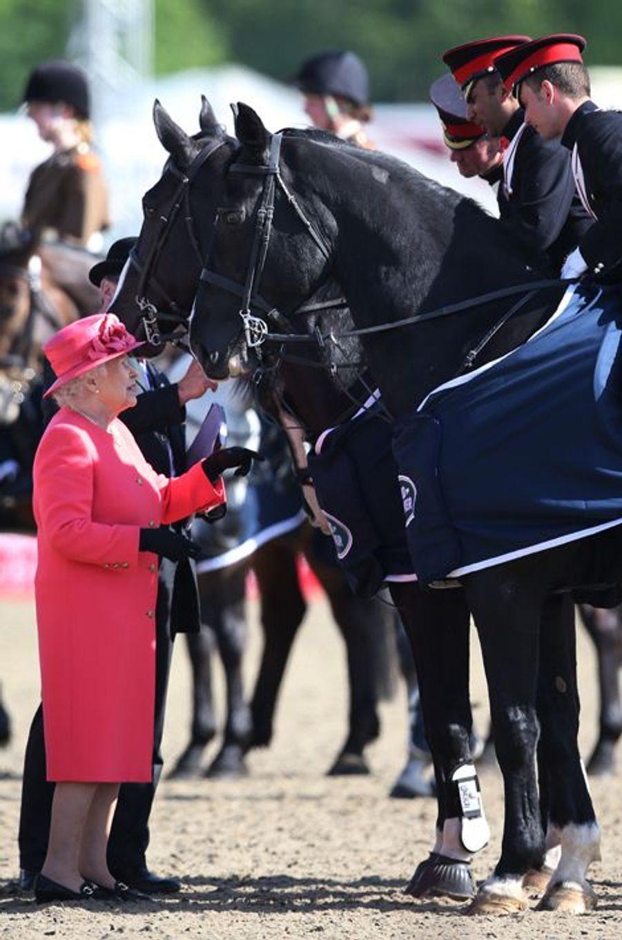 La reine Elizabeth II au Royal Windsor Horse Show, le 17 mai 2015