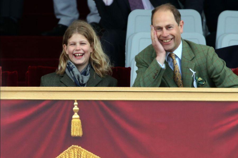 Le prince Edward et sa filles Louise de Wessex au Royal Windsor Horse Show, le 16 mai 2015