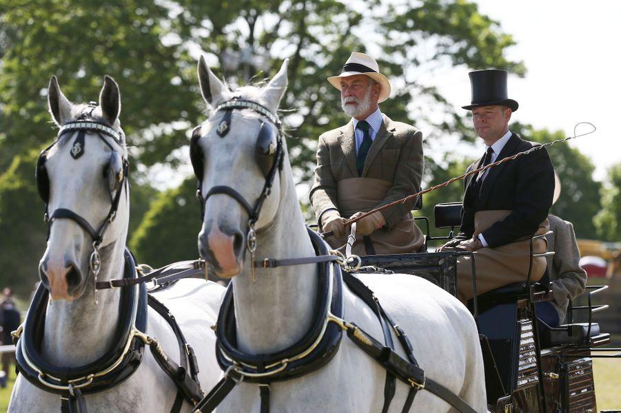 Michael de Kent, cousin d'Elizabeth II, au Royal Windsor Horse Show, le 17 mai 2015