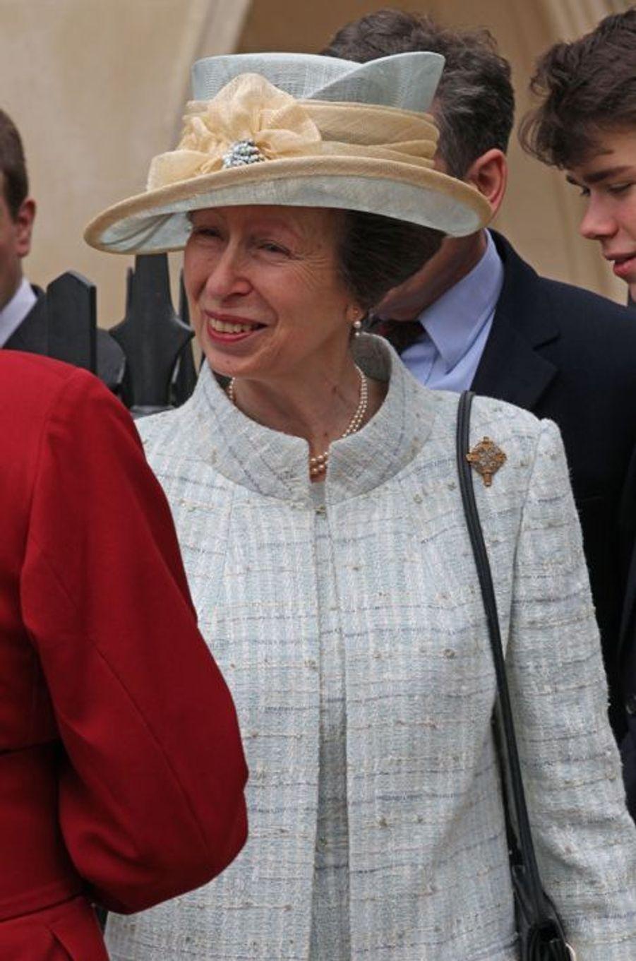 La princesse Anne à Windsor, le 5 avril 2015