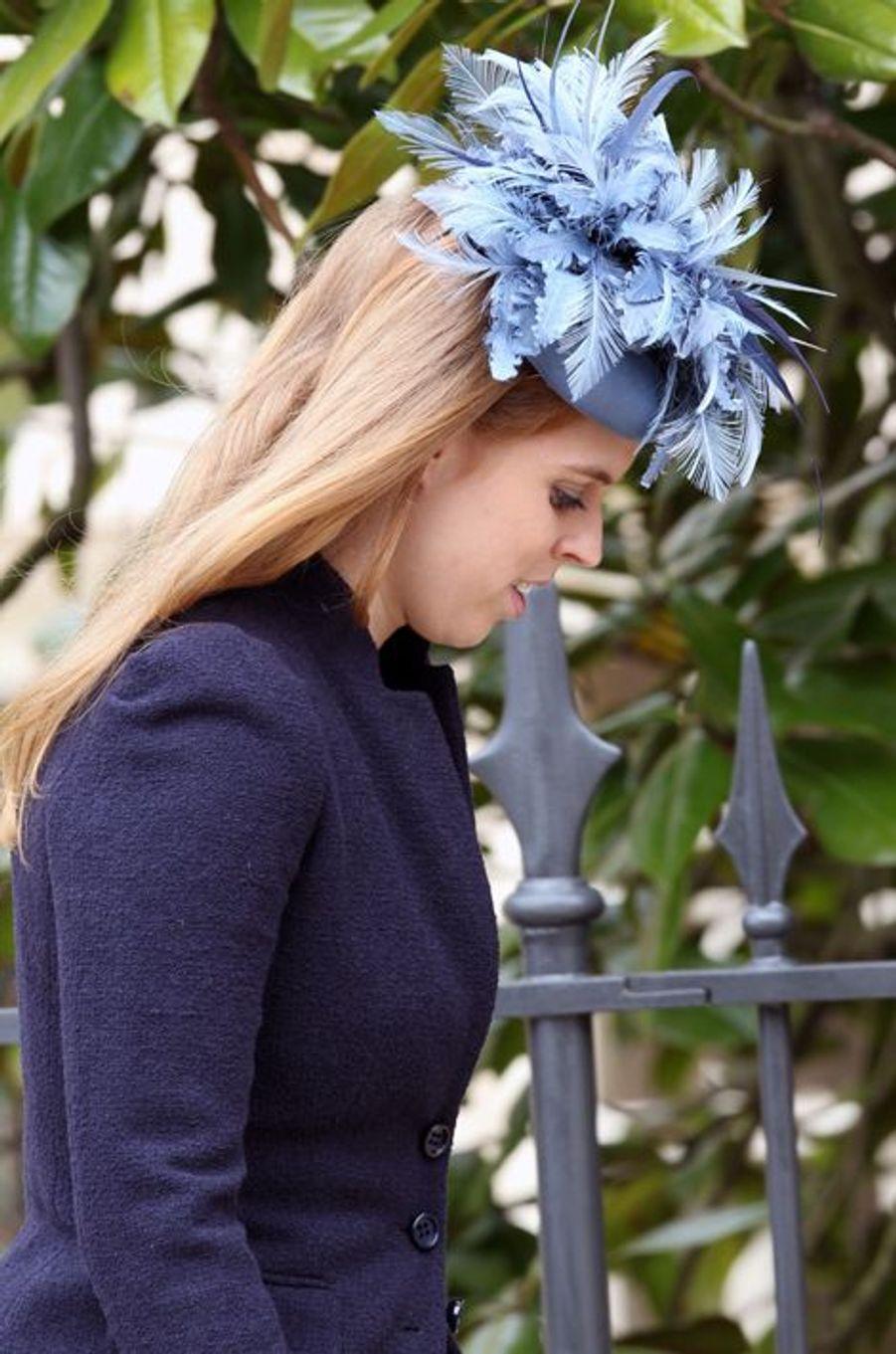 La princesse Beatrice d'York à Windsor, le 5 avril 2015