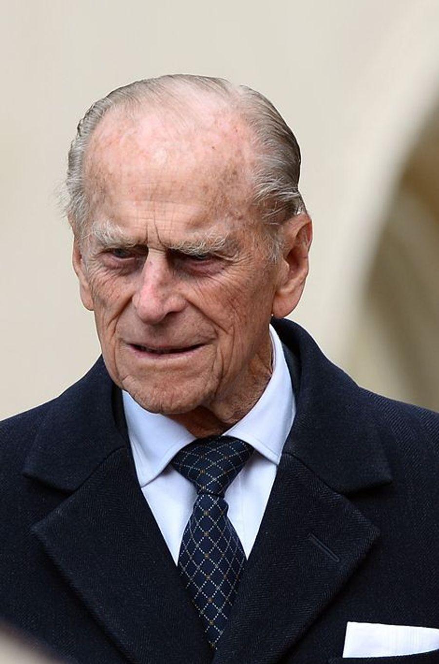 Le duc d'Edimbourg à Windsor, le 5 avril 2015