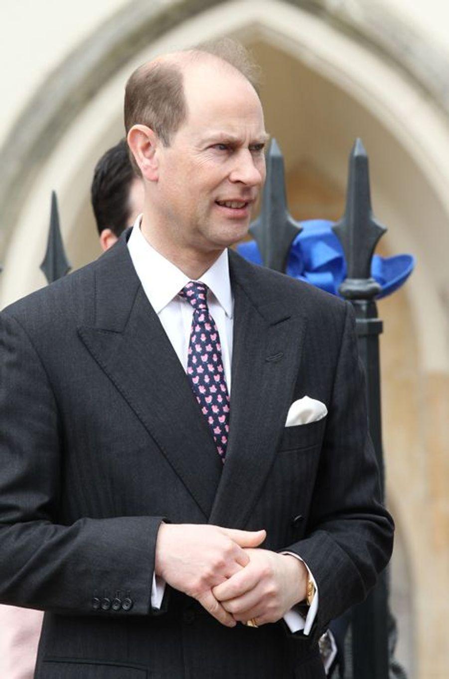 Le prince Edward à Windsor, le 5 avril 2015