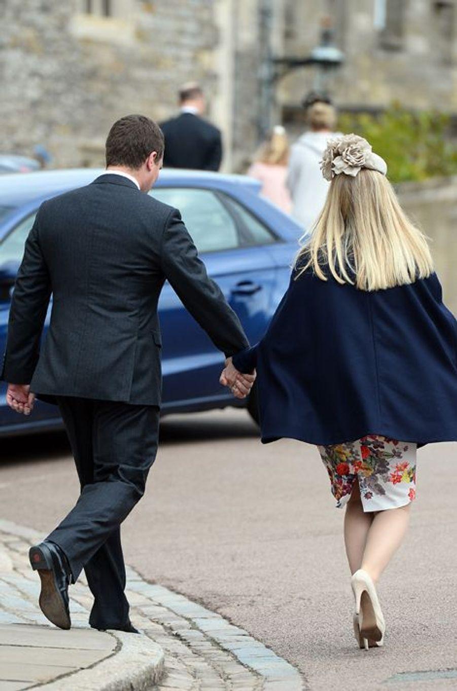 Peter et Autumn Phillips à Windsor, le 5 avril 2015