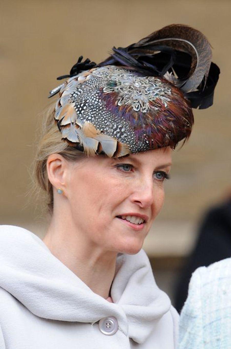 Sophie de Wessex à Windsor, le 5 avril 2015