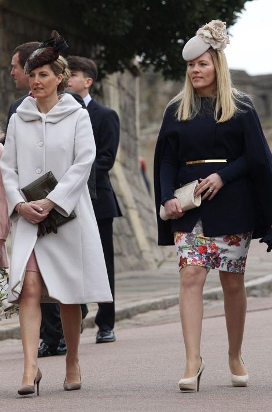 Sophie de Wessex et Autumn Phillips à Windsor, le 5 avril 2015