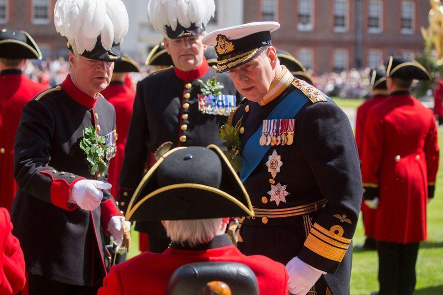 Le prince Andrew à Londres, le 4 juin 2015