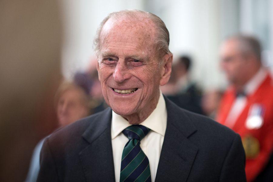 Le prince Philip à la Maison du Canada à Londres, le 19 avril 2015