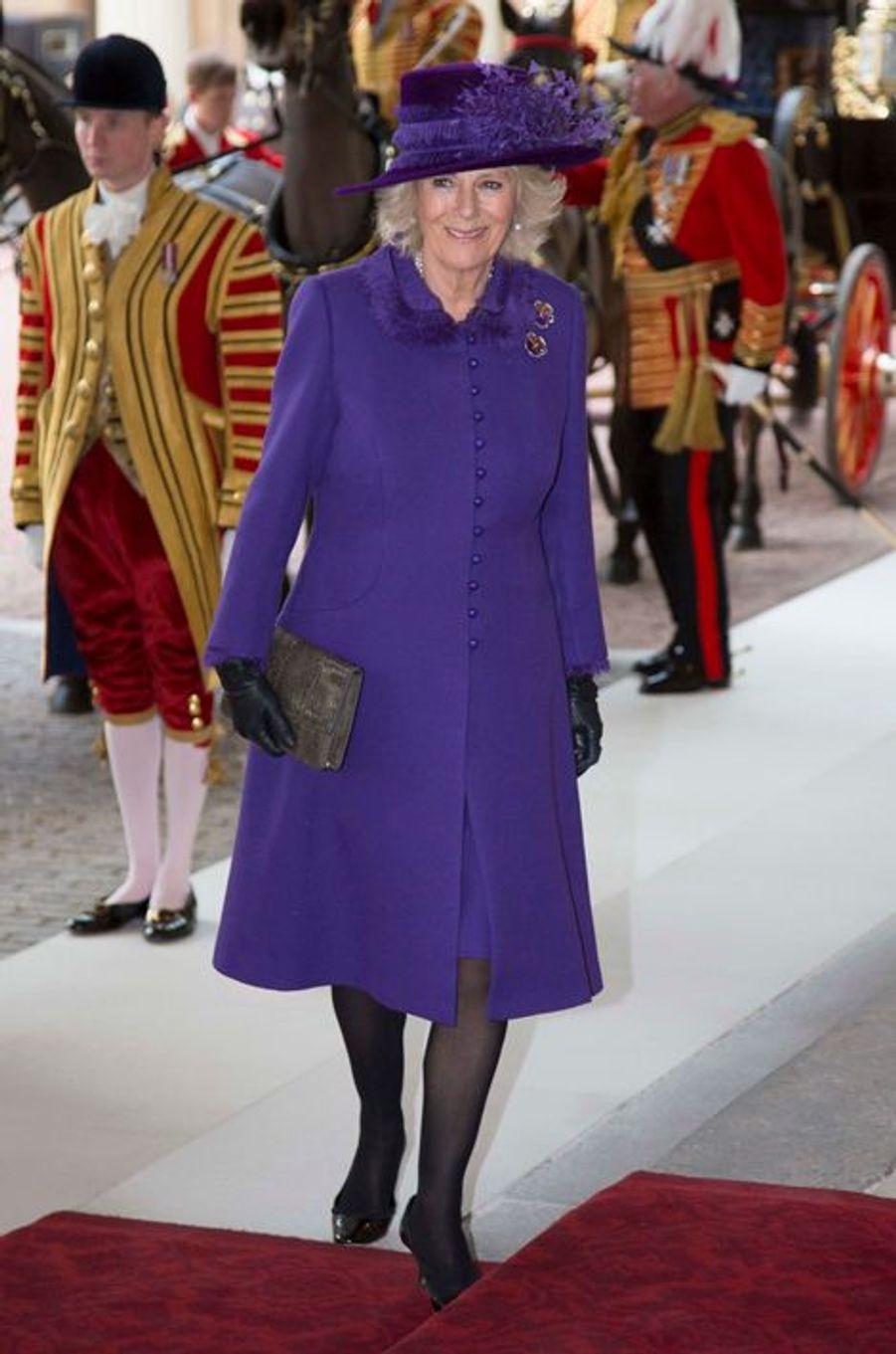 Camilla Parker-Bowles à Londres, le 3 mars 2015