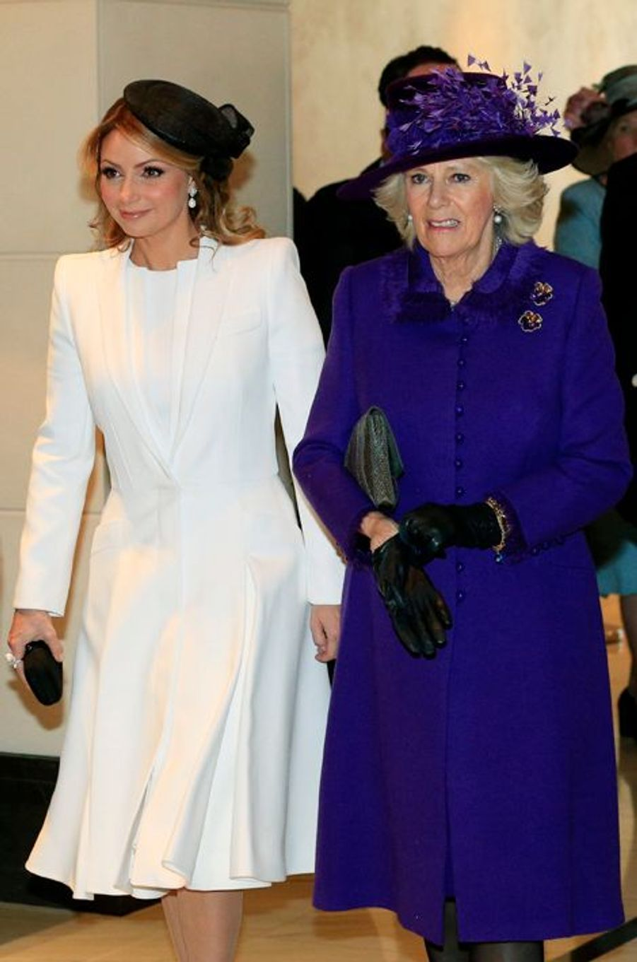 Camilla Parker-Bowles et Angelica Rivera à Londres, le 3 mars 2015
