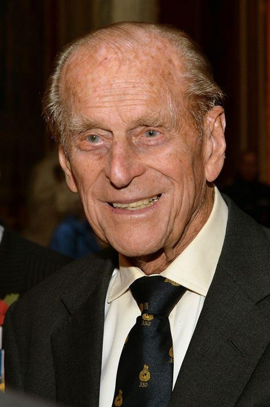 Le prince d'Edimbourg Philip Mountbatten au palais de Buckingham, le 28 octobre 2014